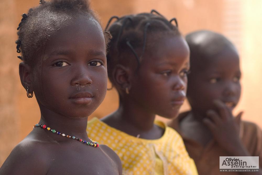 Group of children in Gorom Gorom, Northeastern Burkina Faso.