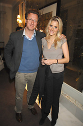 MR BILL HURST and MISS NATALIE HICKS-LOBBECKE at a party to promote The Landau at The Langham, Portland Place, London W1 on 7th February 2008.<br /><br />NON EXCLUSIVE - WORLD RIGHTS