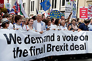 On 2nd anniversary of Brexit , June 23rd 2018, around 100,000 people marched in Central London demanding a People's Vote on the final Brexit deal. The march was led by Sir Vince Cable,MP, Gina Miller, Caroline Lucas MP, Tony Robinson amongst others.