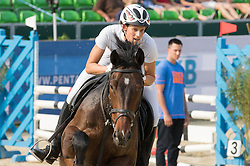 04.07.2015, Berlin, GER, Moderner Fünfkampf WM, im Bild Lena Schoeneborn, SSF Bonn // during Womens race of the the world championship of Modern Pentathlon at the Berlin, Germany on 2015/07/04. EXPA Pictures © 2015, PhotoCredit: EXPA/ Eibner-Pressefoto/ Kleindll<br /> <br /> *****ATTENTION - OUT of GER*****