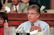 Rep. Marty Meehan of the House Judiciary Committee during hearings on whether impeachment proceedings should begin against President Bill Clinton October 5, 1998 in Washington, DC. This is only the third time in US history that impeachment proceedings against a President have been brought to the House committee.