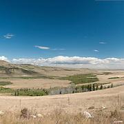 Pasture on Blackfoot Indian Reservation, east of Glacier National Park, Montana.