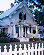 Historic Victorian gingerbread home, Kelleys Island, Lake Erie, Ohio.