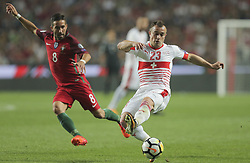October 10, 2017 - Na - Lisbon, 10/10/2017 - The Portuguese football team received their Swiss counterpart tonight in the last game of the group stage to qualify for the 2018 FIFA World Cup in Russia , next June. Portugal won 2-0 to reach the final. Moutinho and Shaqiri  (Credit Image: © Atlantico Press via ZUMA Wire)