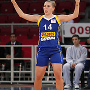 Lotos Gdynia's Jolene ANDERSON during their woman Euroleague group A matchday 5 Galatasaray between Lotos Gdynia at the Abdi Ipekci Arena in Istanbul at Turkey on Wednesday, November 09 2011. Photo by TURKPIX