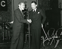 1937 Jack Benny and Fred Allen at NBC Radio City