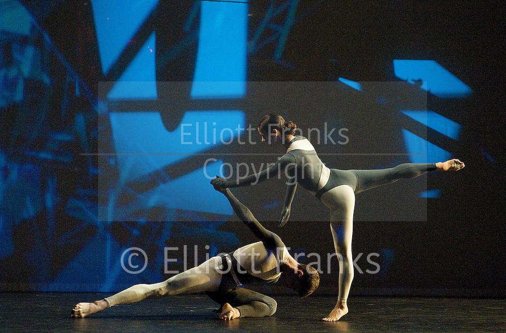 Nearly Ninety<br /> The Merce Cunningham Dance Company <br /> choreography by Merce Cunningham<br /> at The Barbican Theatre, London, Great Britain <br /> rehesrsal <br /> 26th October 2010 <br /> <br /> <br /> Dylan Crossman<br /> Jennifer Coggans<br /> <br /> <br /> <br /> Photograph by Elliott Franks<br /> 2010©Elliott Franks
