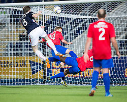 Falkirk's Blair Alston misses a chance.<br /> Falkirk beat Cowdenbeath in a penalty shoot-out, second round League Cup tie played at The Falkirk Stadium.