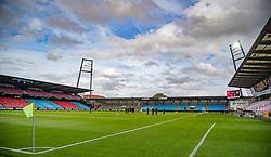 Et kig udover stadion før U21 EM2021 Kvalifikationskampen mellem Danmark og Ukraine den 4. september 2020 på Aalborg Stadion (Foto: Claus Birch).