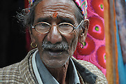 Portrait of a mature man, India, Himachal Pradesh, Tosh Valley
