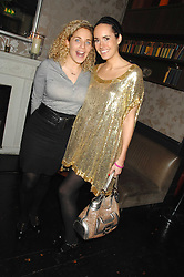 Left to right, TABITHA PROCTER and LOUISE ROE at a leaving party for Poppy Delevigne who is going to New York to persue a career as an actress, held at Chloe, Cromwell Road, London on 25th January 2007.<br />