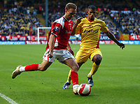 Photo: Olly Greenwood.<br />Charlton Athletic v Watford. The Barclays Premiership. 21/10/2006. Charlton's Dennis Rommedahl goes past Watford's Hameur Bouazza.