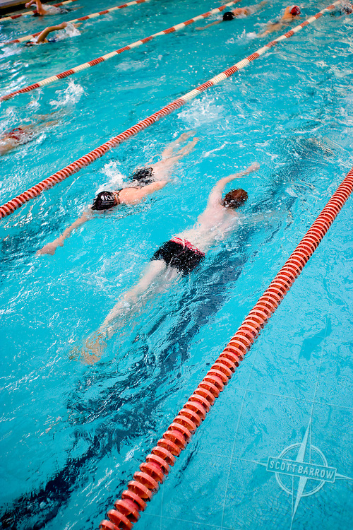 Swiming training.