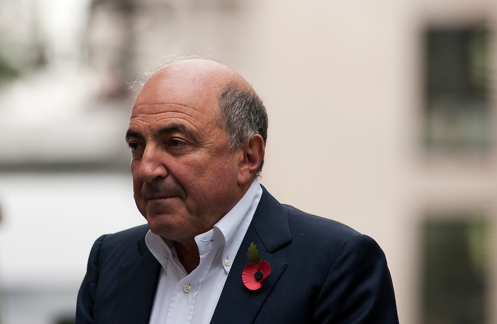 Boris Berezovsky Leaving The Royal Courts of Justice at lunch  in Central London, on October 31, 2011. Chelsea Football Club owner Roman Abramovich was accused in a British court Monday of intimidating fellow Russian tycoon Boris Berezovsky into selling him oil company shares at a large discount. Berezovsky, who lives in exile in Britain, accuses Abramovich of breach of trust and breach of contract over the sale of shares in Russian oil company Sibneft.