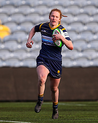 Paige Farries of Worcester Warriors Women scores her second try - Mandatory by-line: Nick Browning/JMP - 09/01/2021 - RUGBY - Sixways Stadium - Worcester, England - Worcester Warriors Women v DMP Durham Sharks - Allianz Premier 15s
