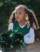 Cheerleaders perform during a groundbreaking ceremony at Garden Oaks Montessori, February 17, 2017.