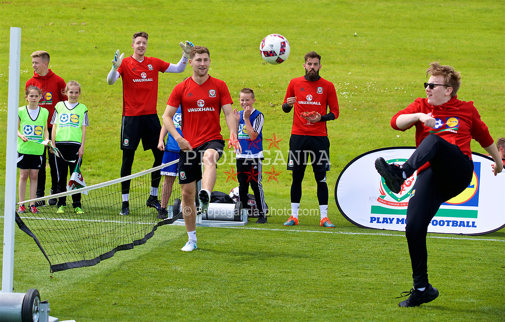 CARDIFF, WALES - Wednesday, June 7, 2017: Wales' Ben Davies during a Lidl Play More Football filming session at the Vale Resort ahead of the 2018 FIFA World Cup Qualifying Group D match against Serbia. (Pic by David Rawcliffe/Propaganda)