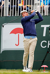 June 23, 2018 - Cromwell, CT, U.S. - CROMWELL, CT - JUNE 23: Bryson DeChambeau of the United States drives from the 1st tee during the Third Round of the Travelers Championship on June 23, 2018, at TPC River Highlands in Cromwell, Connecticut. (Photo by Fred Kfoury III/Icon Sportswire) (Credit Image: © Fred Kfoury Iii/Icon SMI via ZUMA Press)