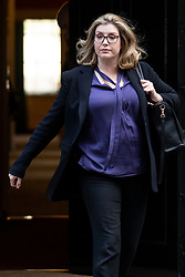 © Licensed to London News Pictures. 16/10/2018. London, UK. Secretary of State for International Development Penny Mordaunt leaves 10 Downing Street after the Cabinet meeting. Photo credit: Rob Pinney/LNP