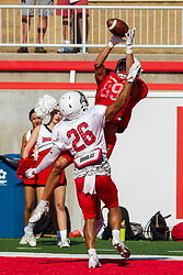 NORMAL, IL - August 14: Noah Hickcox during a college football pre-season scrimmage of the  ISU (Illinois State University) Redbirds August 14 2021 at Hancock Stadium in Normal, IL. (Photo by Alan Look)