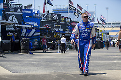 July 13, 2018 - Sparta, Kentucky, United States of America - Chris Buescher (37) gets ready to practice for the Quaker State 400 at Kentucky Speedway in Sparta, Kentucky. (Credit Image: © Stephen A. Arce/ASP via ZUMA Wire)