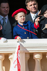 Princes Jacques, Princess Gabriella, Kaya-Rose Wittstock attending on the balcony during the National Day ceremonies, Monaco Ville (Principality of Monaco), on November 19th, 2019. Photo by Marco Piovanotto/ABACAPRESS.COM