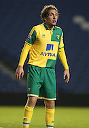 Norwich City's Ray Grant during the Barclays U21 Premier League Cup match between Brighton U21 and U21 Norwich City at the American Express Community Stadium, Brighton and Hove, England on 12 November 2015.