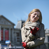Nederland, Amsterdam , 23 april 2010.<br /> De jonge Poolse violiste Joanna Wronko<br /> Foto:Jean-Pierre Jans