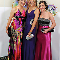 5 November 2011; Fiona, left, and Siobhan Lafferty, from Kilnamona, Co. Clare, with Claire McMahon, from Kilmaley, Co. Clare, right, at the 2011 Camogie All-Stars in association with OíNeills. Citywest Hotel, Saggart, Co. Dublin. Picture credit: Stephen McCarthy / SPORTSFILE *** NO REPRODUCTION FEE ***