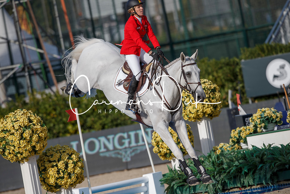 Michaels-Beerbaum Meredith, (GER), Fibonacci 17 <br /> First Round<br /> Furusiyya FEI Nations Cup Jumping Final - Barcelona 2015<br /> © Dirk Caremans<br /> 24/09/15
