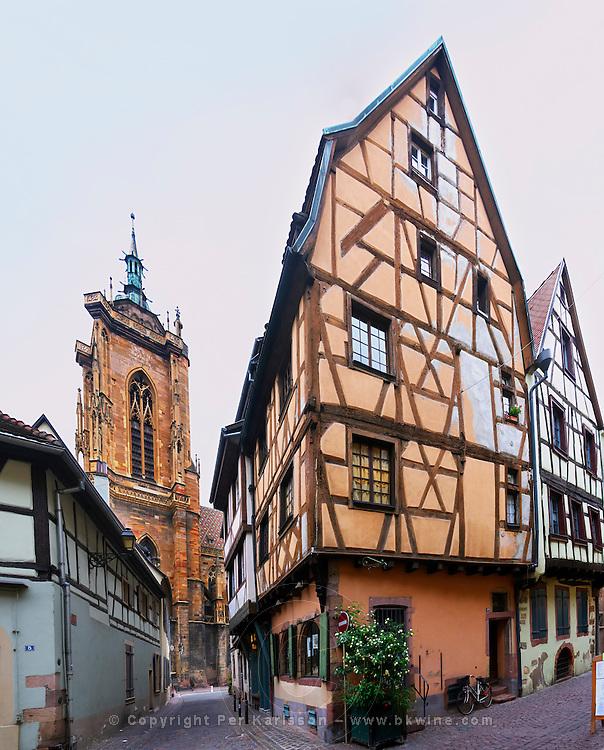 old house on rue des marchands colmar alsace france