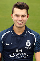Middlesex's Max Holden during the media day at Lord's Cricket Ground, London.