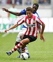 Fotball<br /> 28.07.2007<br /> Tyskland<br /> Foto: Witters/Digitalsport<br /> NORWAY ONLY<br /> <br /> v.l. Mohamadou Idrissou, Ibrahim Afellay Eindhoven<br /> <br /> Testspiel MSV Duisburg - PSV Einhoven 2:1