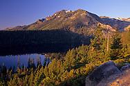 View of Mount Tallac rising above Cascade Lake, near Lake Tahoe, California