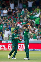 Cricket - 2019 ICC Cricket World Cup - Group Stage: Pakistan vs. Bangladesh<br /> <br /> Shaheen Afridi , who took 5 wits, celebrates the dismissal of Shakib Al Hasan at Lord's<br /> <br />  colorsport/winston bynorth