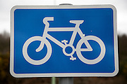 Cycle parking blue rectangle sign