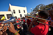 A band plays during the Festival of San Sebastian in San Juan, Puerto Rico.