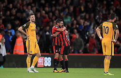 AFC Bournemouth's Andrew Surman and Nathan Ake (centre right) celebrate victory after the final whistle of the Premier League match at the Vitality Stadium, Bournemouth.
