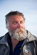 Portrait of Dr. Tad Pfeffer, a glaciologist with the University of Colorado, at the Columbia Glacier, near Valdez, Alaska.