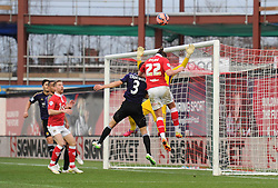 Bristol City's Luke Ayling takes a shot at goal. - Photo mandatory by-line: Dougie Allward/JMP - Mobile: 07966 386802 - 25/01/2015 - SPORT - Football - Bristol - Ashton Gate - Bristol City v West Ham United - FA Cup Fourth Round