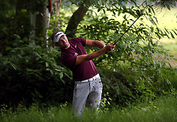 Scotland's Gavin Hay plays out of the heavy rough on the 14th hole during day two of the 2018 BMW PGA Championship at Wentworth Golf Club, Surrey.