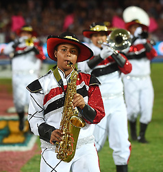 Cape Town-180416  A bras band entertain Maties fans before the final of the Varsity Cup between University of Stellenbosch and UNW Pukke played at Danie Craven stadium in Sellenbosch .photographer:Phando Jikelo/African News Agency/ANA