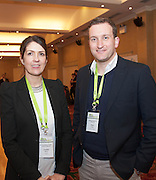 20/11/2014  repro free  Clare Burns St Columba Credit Union and Ross Curran, Curran Financial at the Galway Bay Hotel for the two day conference Meet West attracting over 400 business people from around Ireland for the largest networking event in the Country . Photo:Andrew Downes
