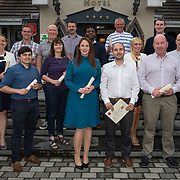 24.05.2018.       <br /> The Limerick Institute of Technology with Atlantic Air Adventures and funding from the Aviation Skillnet presented over forty certificates to Aviation professionals who have completed the Certificate in Aviation, The Aircraft Records Technician Level 7 and Part 21 Design, Level 7.<br /> <br /> Pictured at the event were, Aircraft Records Technicians cert recipients.<br /> <br /> LIT in partnership with Atlantic Air Adventures, CAE Parc Aviation, Part 21 Design and industry experts such as Anton Tams, GECAS, Don Salmon, CAE Parc Aviation and Mick Malone, Part 21 Design have developed and deliver these key training programmes with funding for aviation companies provided by The Aviation Skillnet.<br /> <br /> . Picture: Alan Place