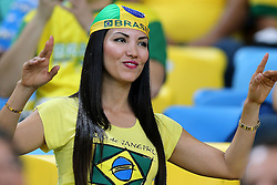 Torcida brasileira na partida entre Brasil e Espanha válida pela final da Copa das Confederações 2013, no estádio Maracanã, no Rio de Janeiro. FOTO: Jefferson Bernardes/Preview.com