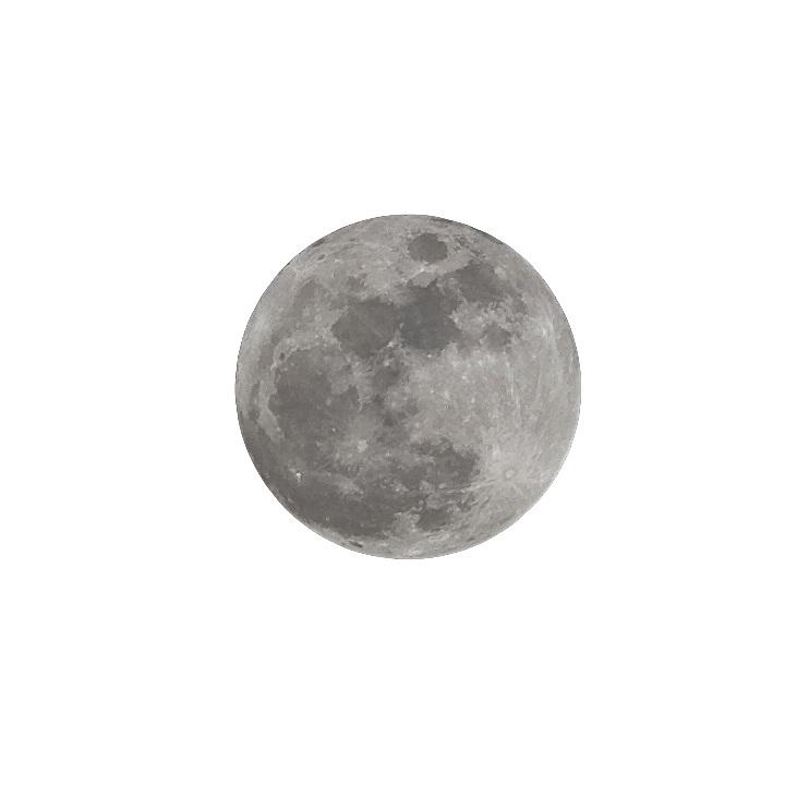 Full moon cutout,on layer