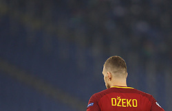 December 5, 2017 - Rome, Italy - Roma s Edin Dzeko walks on the pitch during the Champions League Group C soccer match between Roma and Qarabag at the Olympic stadium. Roma won 1-0 to reach the round of 16. (Credit Image: © Riccardo De Luca/Pacific Press via ZUMA Wire)