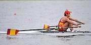 Marathon, GREECE,  ESP W1X, Nuria DOMINGGUEZ ASENSIO. Women's Single  sculls semi final A/B, at the FISA European Rowing Championships.  Lake Schinias Rowing Course, SAT. 20.09.2008  [Mandatory Credit Peter Spurrier/ Intersport Images] , Rowing Course; Lake Schinias Olympic Rowing Course. GREECE