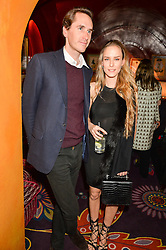 OTIS FERRY and HUM FLEMING at the 2nd Bright Young Things Back In London party held at Annabel's, 44 Berkeley Square, London on 11th February 2016.