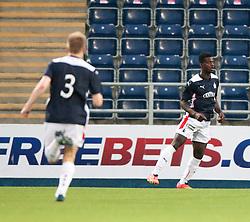 Falkirk's Botti Biabi cele scoring their second goal. Falkirk  2 v 2 Rotherham Utd, pre-seaon friendly.<br /> © Michael Schofield.